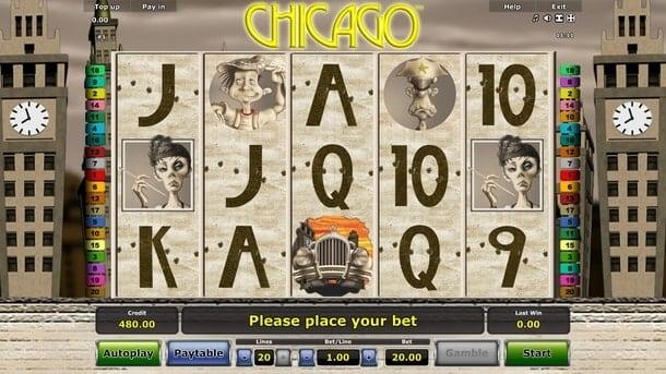 Символы игрового аппарата Chicago