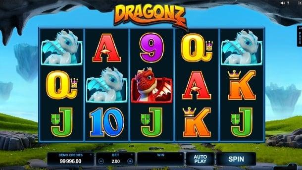 Комбинация в игре Dragonz
